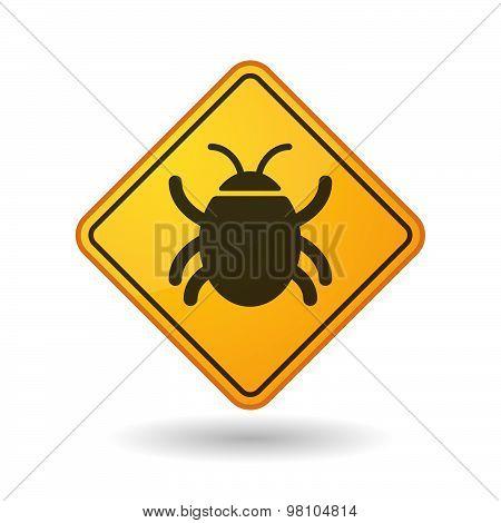Awareness Sign With  A Bug