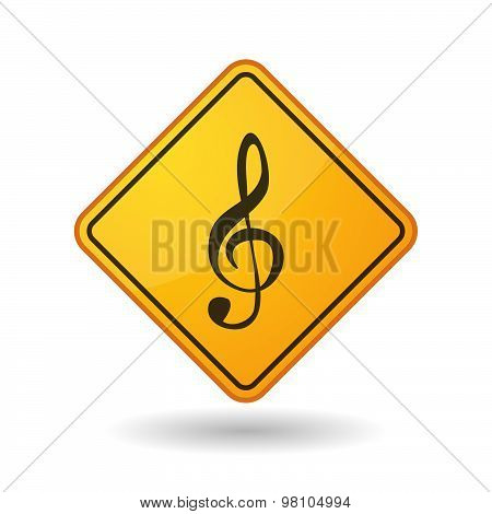 Awareness Sign With  A G Clef