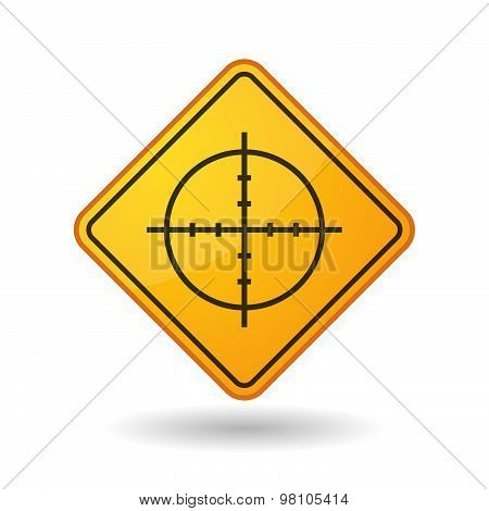 Awareness Sign With  A Crosshair