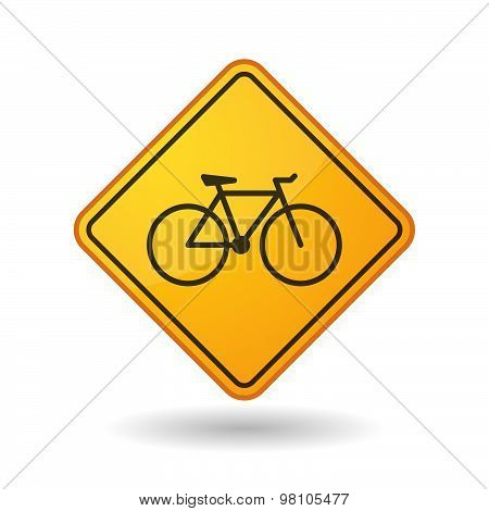 Awareness Sign With  A Bicycle