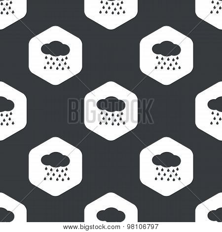 Black hexagon rain pattern