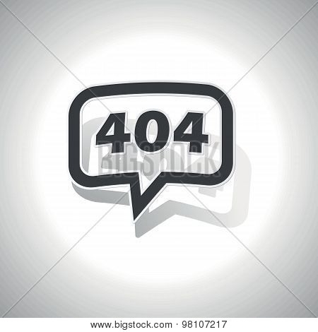 Curved error 404 message icon