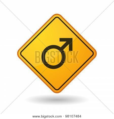 Awareness Sign With  A Male Sign