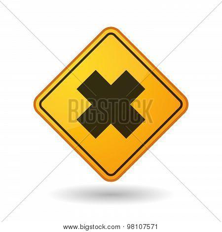 Awareness Sign With  An Irritating Substance Sign