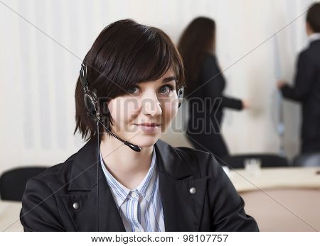 Female customer support officer