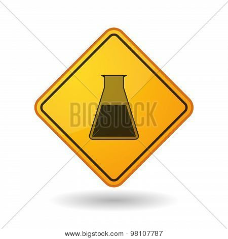 Awareness Sign With  A Chemical Test Tube