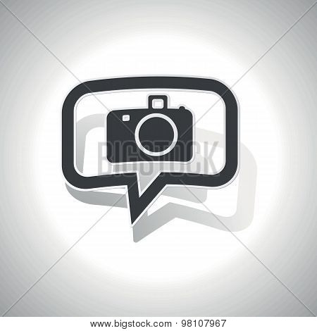 Curved camera message icon