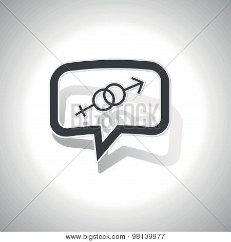 Curved gender signs message icon