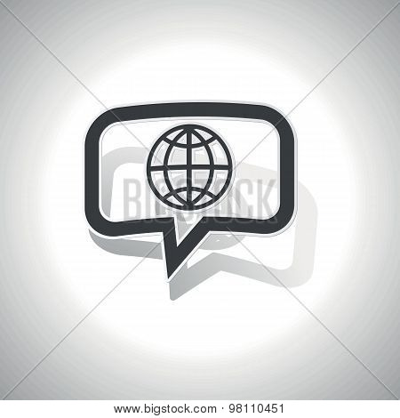 Curved globe message icon
