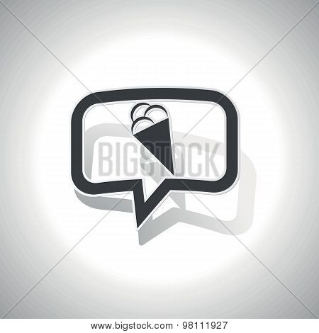 Curved ice cream message icon