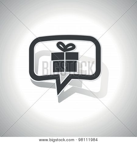 Curved gift message icon