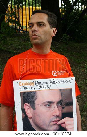 Politician Vladimir Milov To Protest In Support Of Khodorkovsky
