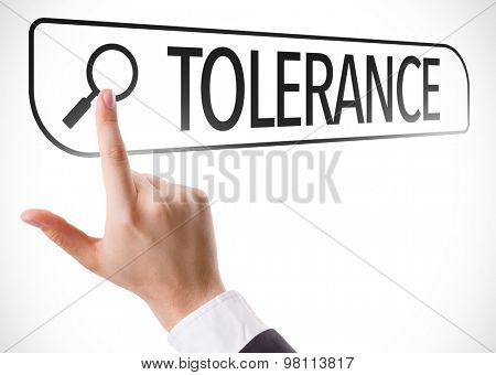 Tolerance written in search bar on virtual screen