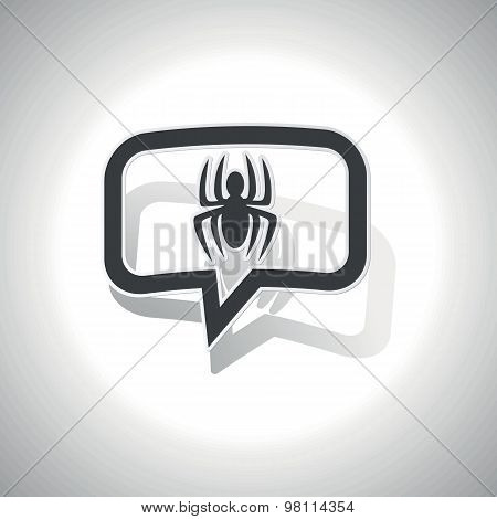 Curved spider message icon