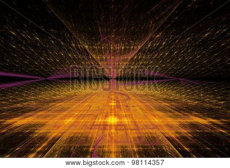 Illustration Abstract Technology Background With The Prospect Of