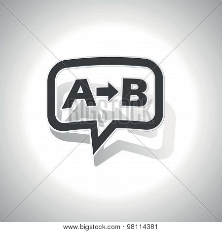 Curved A B message icon