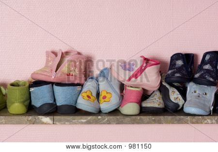 Old Shoes On A Shelve