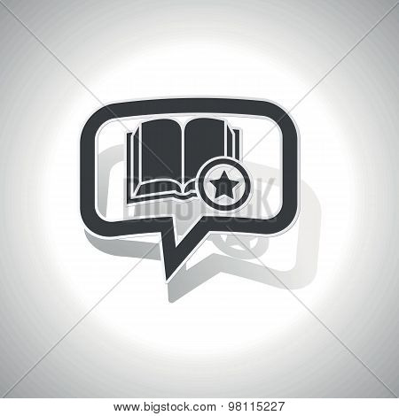 Curved favorite book message icon