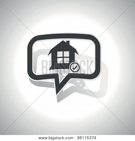 Curved select house message icon