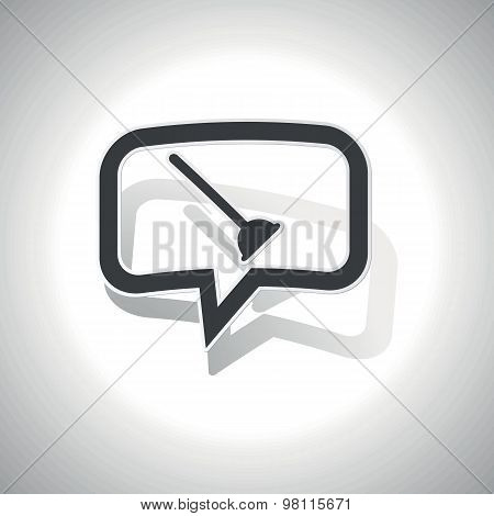 Curved plunger message icon