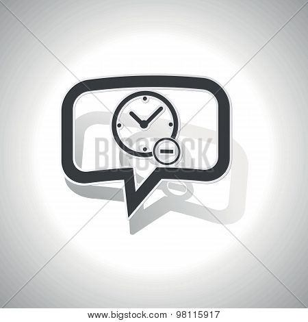 Curved reduce time message icon