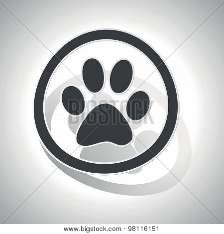 Curved animal sign icon