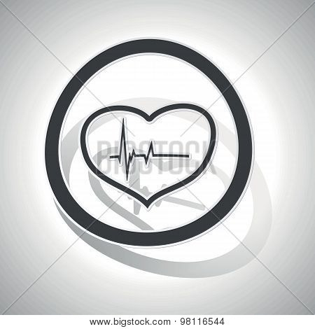 Curved cardiology sign icon
