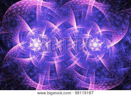 Illustration Of An Abstract Fractal Background With A Geometrical Pattern