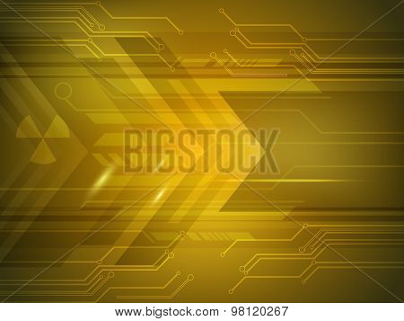 Abstract shiny hi-tech background for Technology concept.