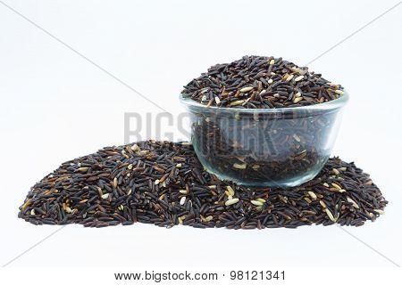 Bowl of organic black rice