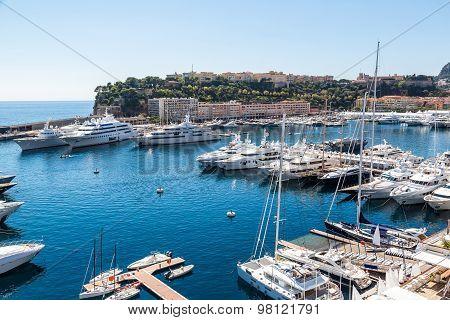 Panoramic View Of Monte Carlo, Monaco