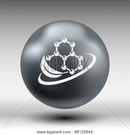 Natural components icon molecule illustration science nature