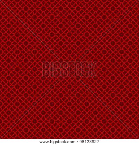 Seamless Chinese window tracery lattice cross round circle pattern.