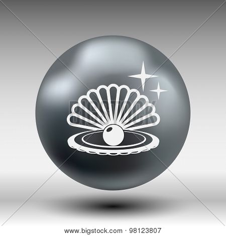 icon pearl isolated ball vector symbol element illustration