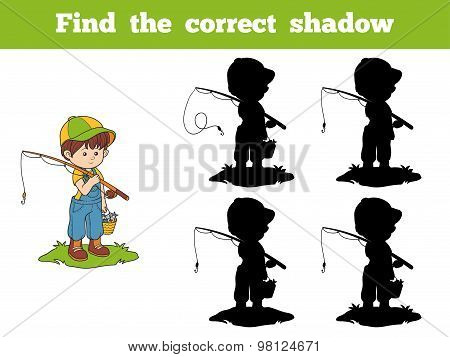 Find The Correct Shadow Game (boy Fisher)