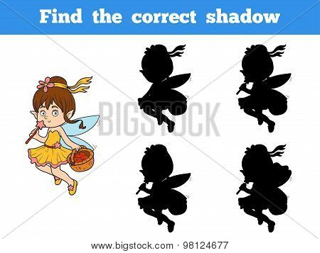 Find The Correct Shadow Game (little Girl Fairy)