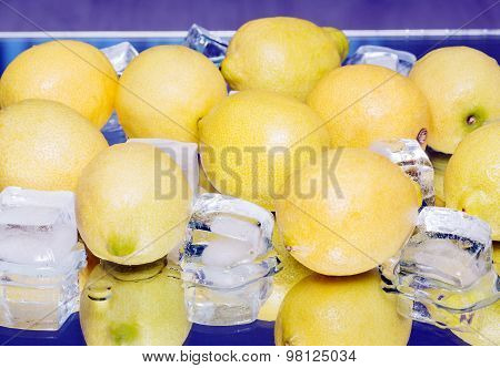Lemon, Ice, Closeup