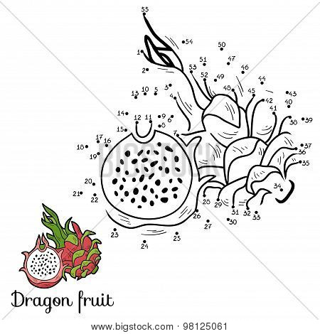 Numbers Vector Game: Fruits And Vegetables (dragon Fruit)