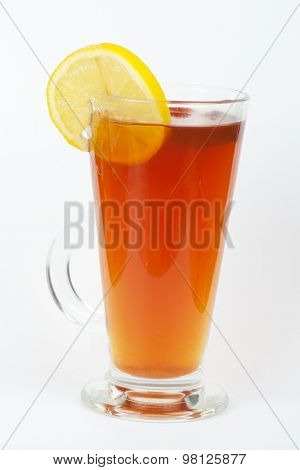 tea glasse with briar on a white