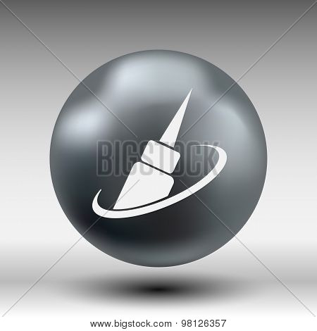 corrector icon eye vector fashion isolated sign symbol female