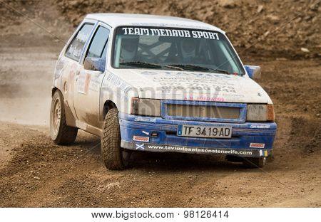 Opel Corsa GSI 90's vintage rally car.