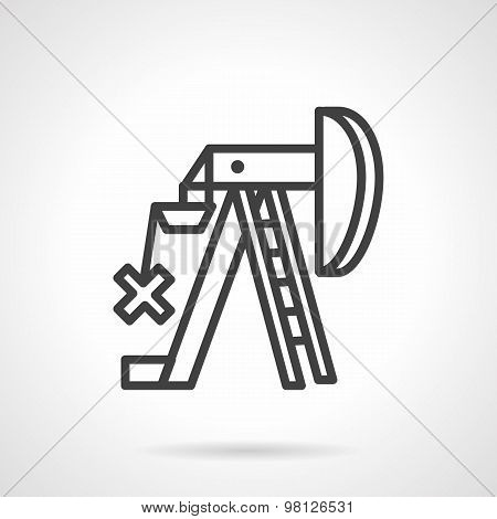 Petroleum extraction line vector icon