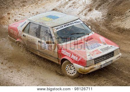 Seat Malaga vintage rally car.