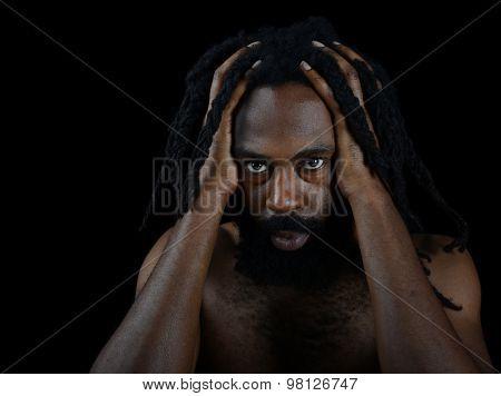 Nice Image of a Very Spiritual Afro American man