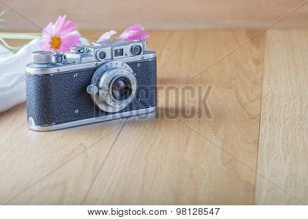 Old Camera On A Table