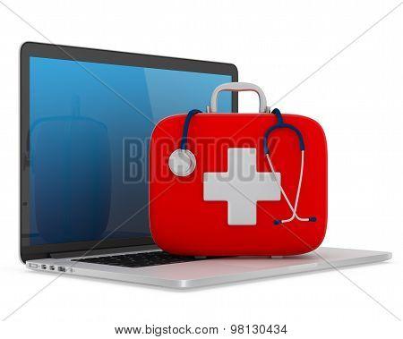 Computer Assistance Service Concept