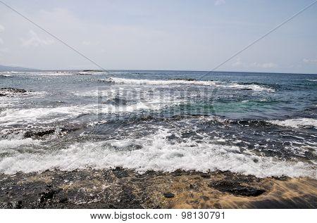Waves Wash Over Bank