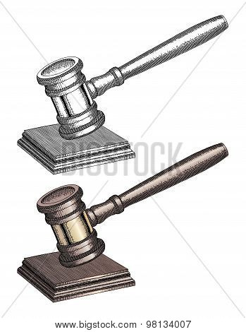 Gavel - Hand Drawn