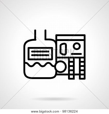 Industrial water treatment. Vector icon