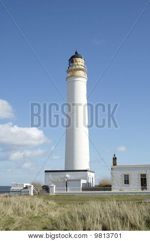 Barns Ness Lighthouse In Summer
